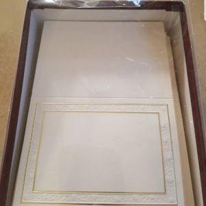 100 Embossed Blank Cards w/Envelopes